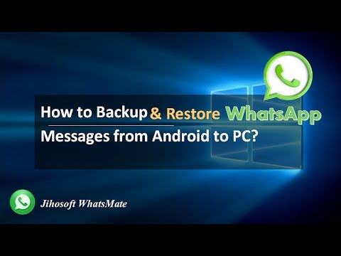 How to transfer whatsapp chats from android to computer