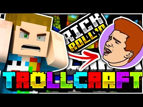 Minecraft | SPARKLEZ RICK ROLL TROLL?! - Troll Craft