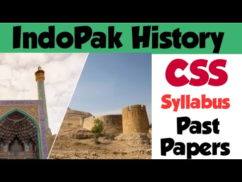 Indo-Pak History CSS Past Papers