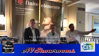 Finite Elemente equipment racks and stands, Paul Sander, Aaudio Imports Brian Ackerman, CES Show