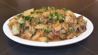 Рецепт рагу с баклажанами и картошкой