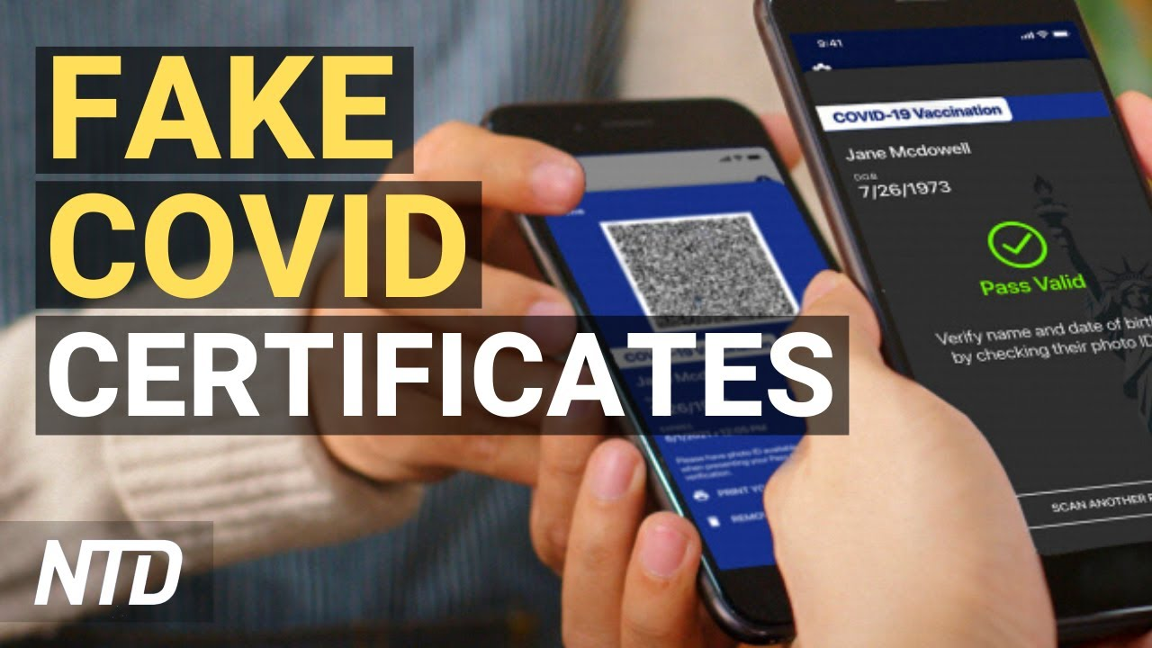 Download Fake COVID Certificates Vex Institutions; Coinbase Valued at $100B in Nasdaq Debut | NTD Business