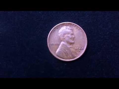 Coins : USA Penny 1944 S Coin aka Wheat Penny or Lincoln Penny