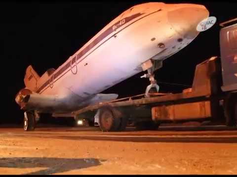 Самолет везли по городу 22 12 2016