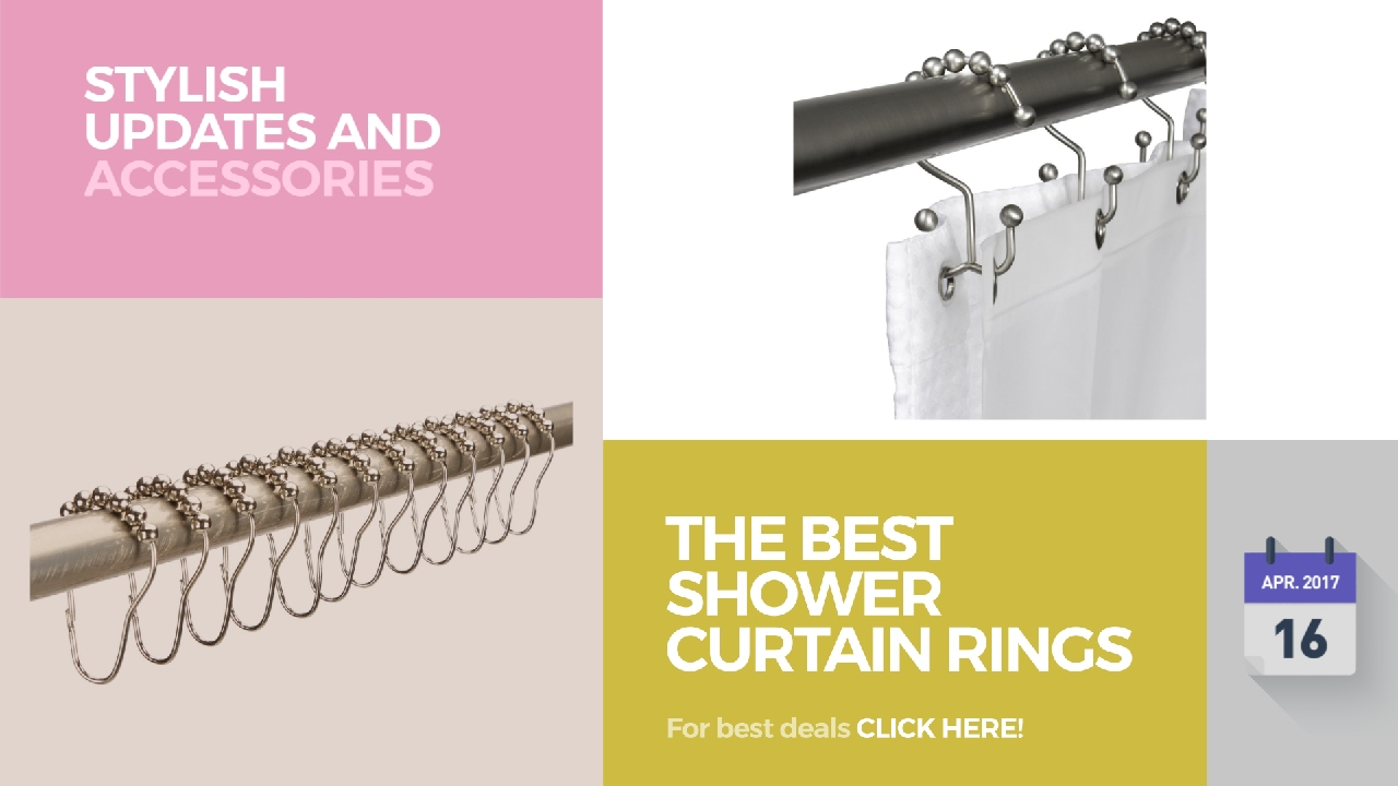 The Best Shower Curtain Rings Stylish Updates And Accessories ...