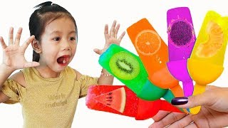 Colors Song Nursery Rhymes with Fruit Ice Cream for Children to Learn, BaBiBum
