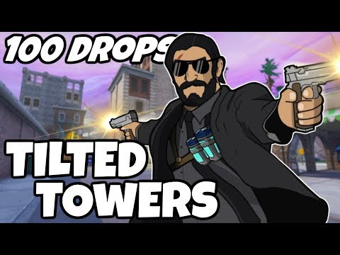 I Dropped Tilted Towers 100 Times And This Is What Happened (Fortnite) - 100 Drops