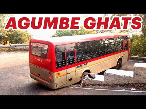 Dangerous Agumbe Ghats Bus Chasing on Hairpin Bends.