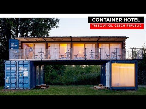 Shipping Container Hotel: Artikul Architects, Czech Republic