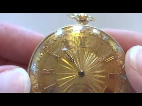Antique 1820s solid 18k gold pocket watch