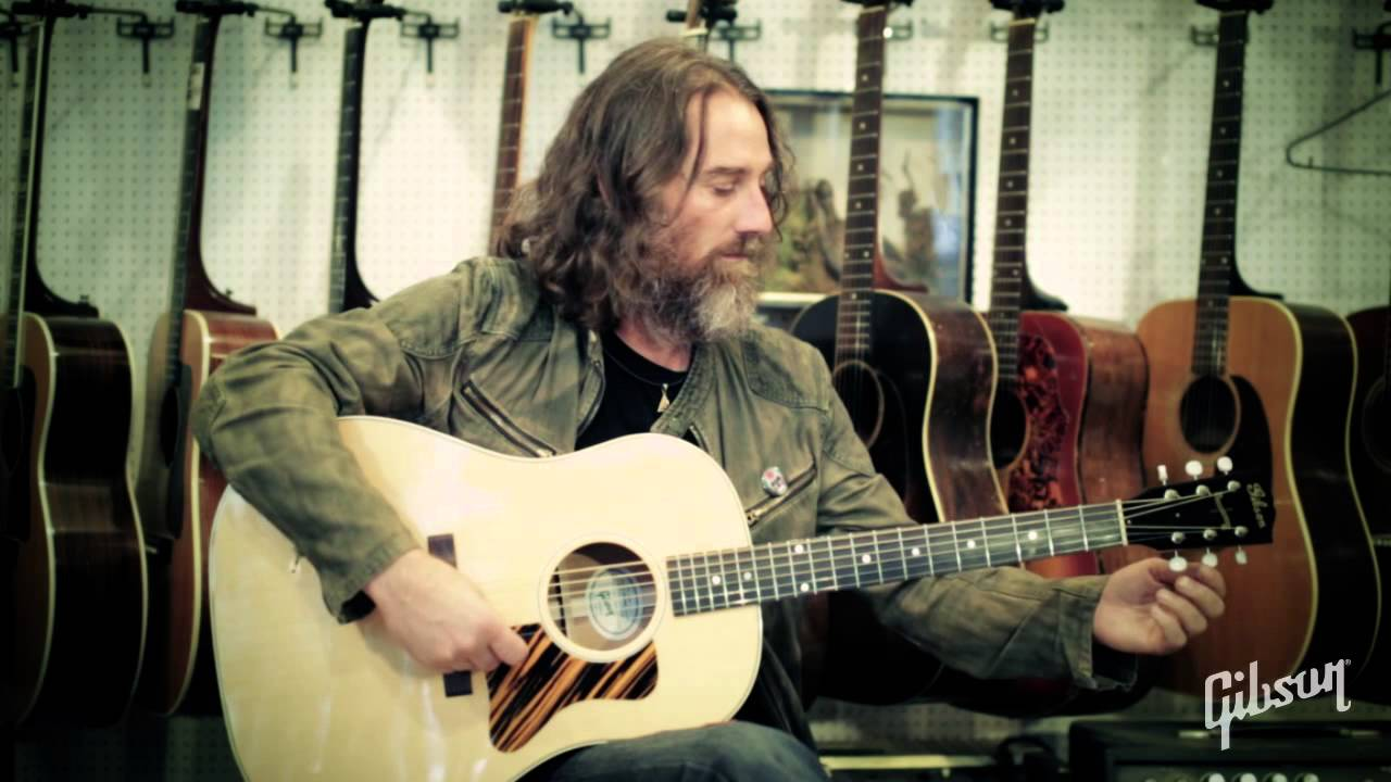 Robert Plant's guitarist - Skin - playing the Gibson acoustic J35