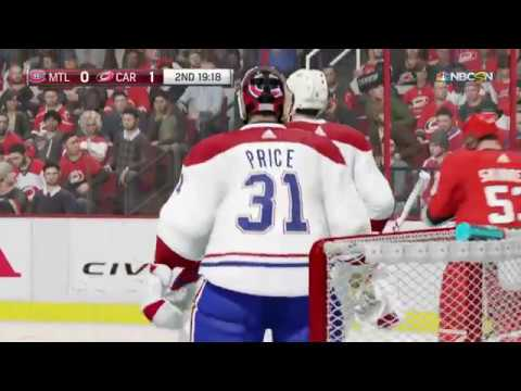 NHL® 18 Montreal Canadiens vs Carolina Hurricanes