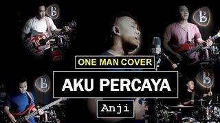 AKU PERCAYA (Cover) - ANJI | One Man Band (LIVE) By Vicky Shalov