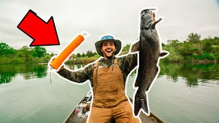 JUGLINE Catfishing in My BACKYARD POND!!! (Catch Clean Cook)