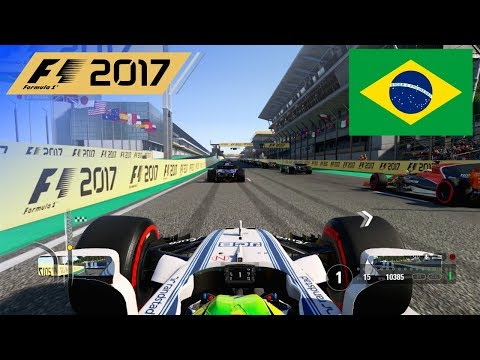 F1 2017 - 100% Race at Autódromo José Carlos Pace, Brazil in Massa's Williams
