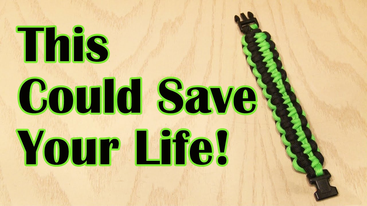This Diy Paracord Bracelet Could Save Your Life Youtube