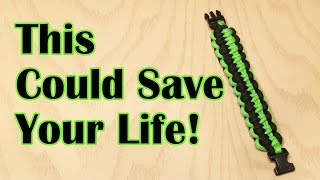 This DIY Paracord Bracelet Could Save Your Life!
