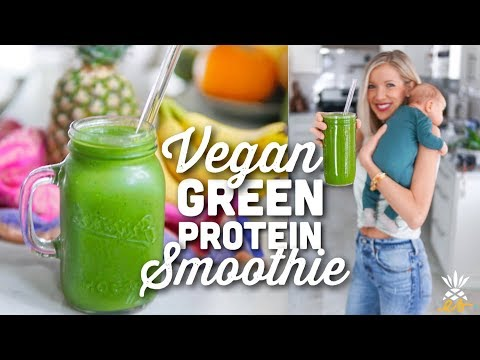 Vegan Green Protein Smoothie | Detoxifying & Energizing