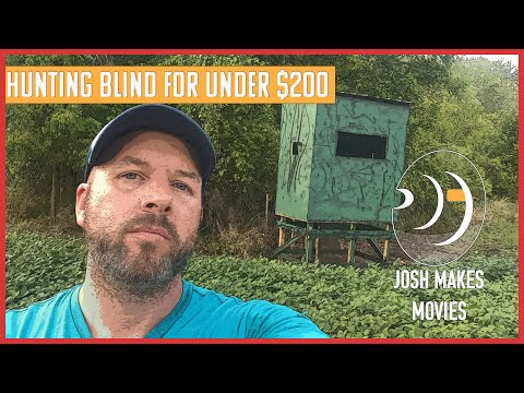 Make A Deer Hunting Blind For Under $200