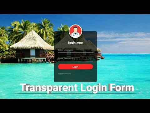 How to create Transparent Login Form with HTML & CSS || webdev