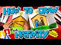 How To Draw The Christmas Nativity With Folding Surprise