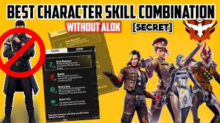Best Character Skill Combination Free Fire Without Alok||Character Skill Combination Trick 2020