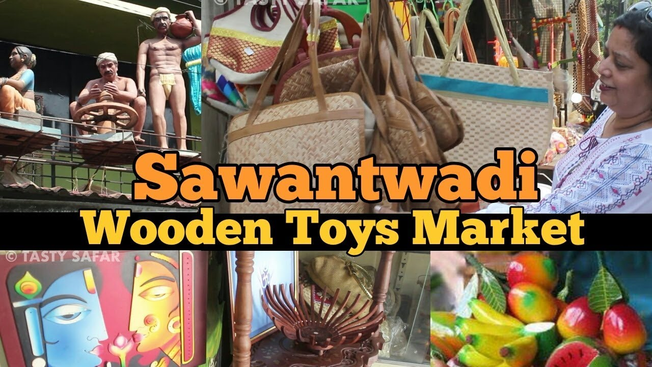 Watch India S Largest Wooden Toys Market Archana Arte Shopping In