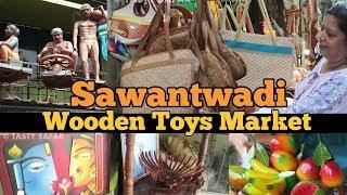 Watch India's Largest Wooden Toys Market | Archana Arte Shopping In Sawantwadi | Tasty Safar In Goa