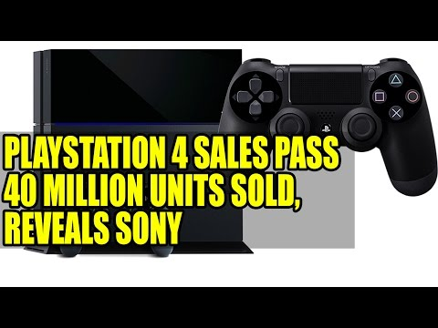 Playstation 4 Sales Pass 40 Million Units Sold, Reveals Sony