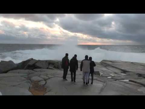 Peggy's Cove weather bomb waves
