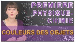 Couleurs des objets - Physique-Chimie - 1ère S - Les Bons Profs