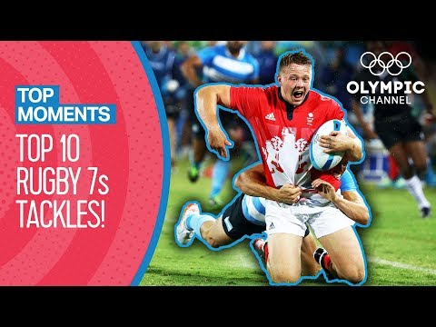 Best Rugby 7s Tackles at the Olympics | Top Moments