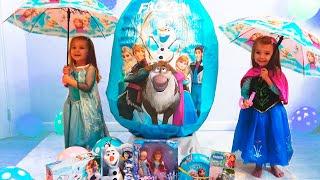 Холодное Сердце Огромное яйцо Frozen с сюрпризами и игрушками на День Рождения девочек