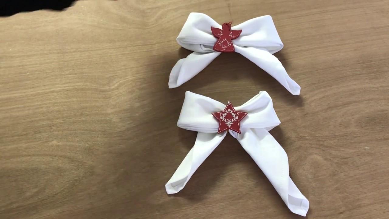 Pliage De Serviette Original pliage serviette pour la st valentin - noeud