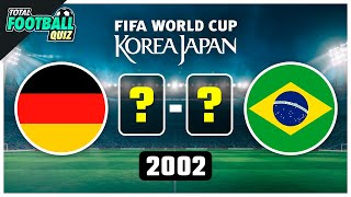 GUESS THE WORLD CUP FINAL SCORE | QUIZ FOOTBALL 2021