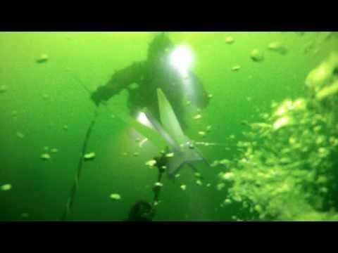 75 ft dive in Lake Geneva Wisconsin on sunken sailboat