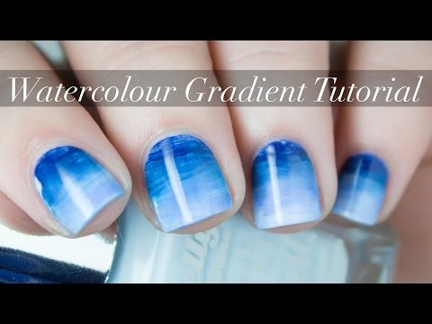 Watercolour Gradient Nail Art Tutorial   Easy Nail Art   The Nailasaurus