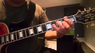 When the river runs deep - Iron Maiden -  Guitar intro (at speed and slowed down)