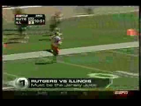 ESPN College GameDay Top Play 9-3-05 Leonard Leap (Rutgers)