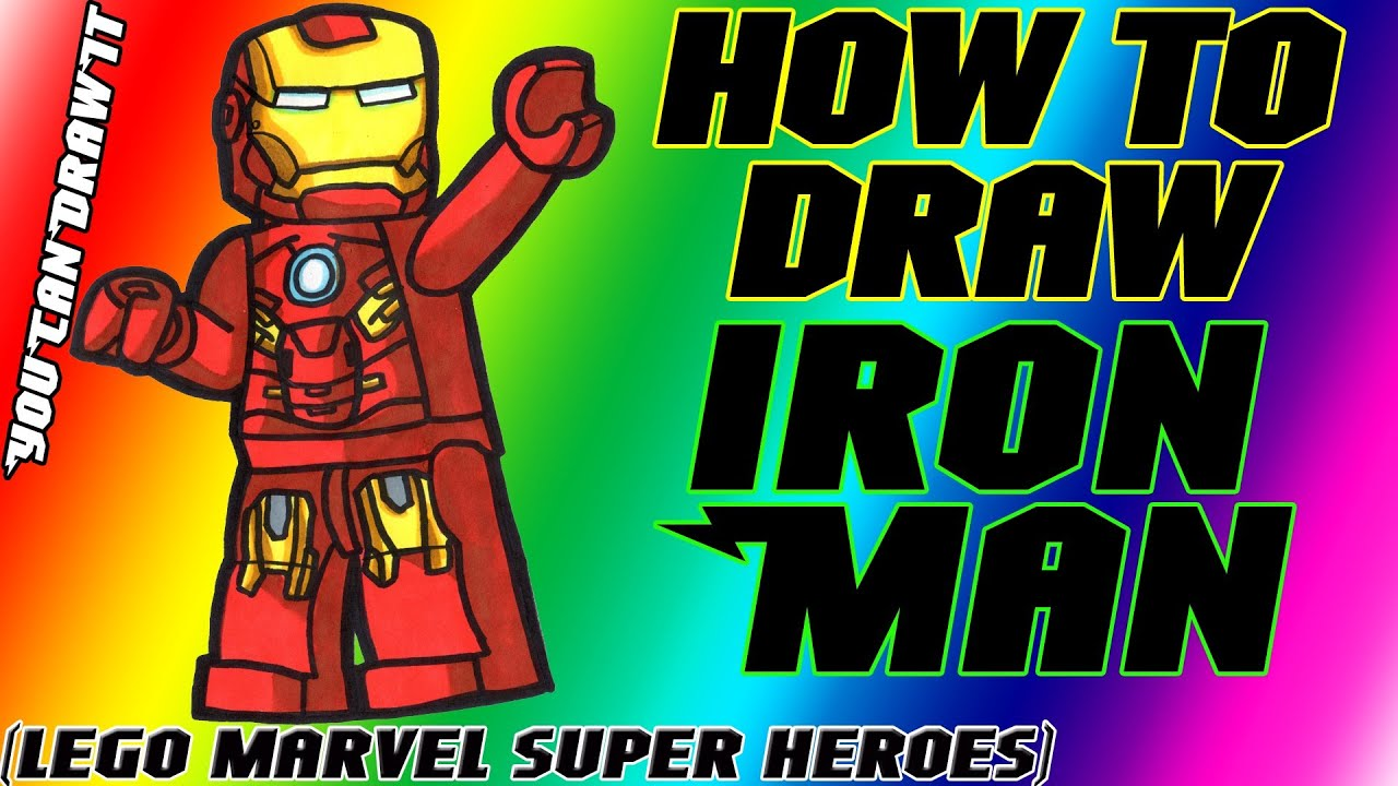 Worksheet. How To Draw Iron Man from Lego Marvel Super Heroes  YouCanDrawIt