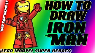 How To Draw Iron Man from Lego Marvel Super Heroes ✎ YouCanDrawIt ツ 1080p HD