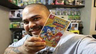 Sonic Mania Nintendo Switch Unboxing and Game play