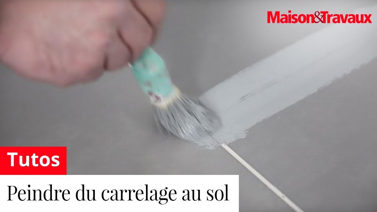 Comment peindre du carrelage au sol youtube for Peindre carrelage sol salle de bain
