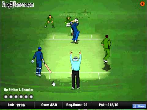 India Pakistan Cricket Game - Free online cricket games - YouTube