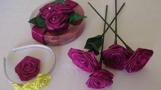 Como fazer uma rosa de cetim