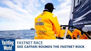 Dee Caffari rounds the Fastnet Rock | 2017 Rolex Fastnet Race | Yachting World