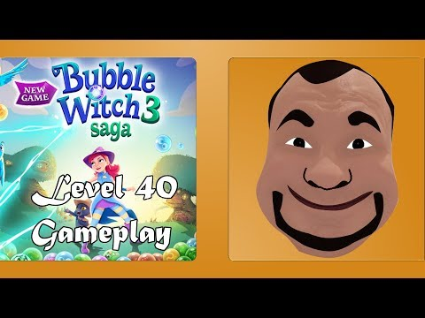 Bubble Witch 3 Saga Level 40 finished no boosters - Bubble Shooter - Gameplay #40  ????????????