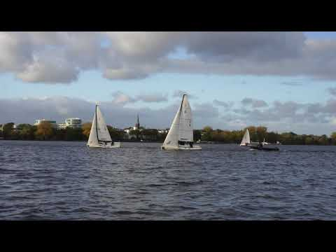 Alster In Hamburg 4K October 2019