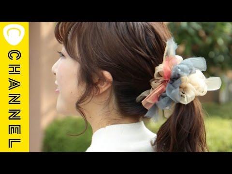 【DIY】咲き編みのシュシュ|C CHANNEL DIY