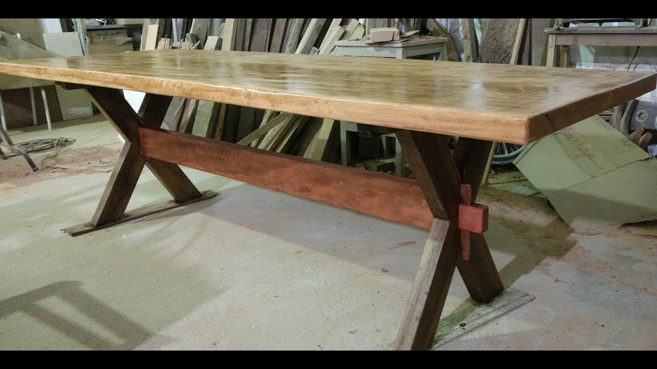 Como fazer uma mesa r stica p x youtube for Mesas para bar rusticas